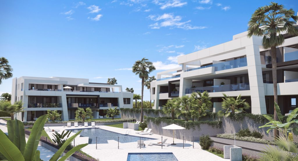 Stunning masterplan of modern apartments in Estepona